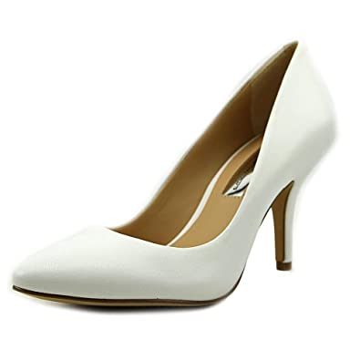 707dabb2ae INC International Concepts Womens Zitah Leather Pointed, Bright White, Size  5.0