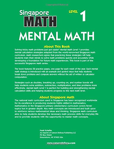Mental Math, Grade 2: Strategies and Process Skills to Develop ...