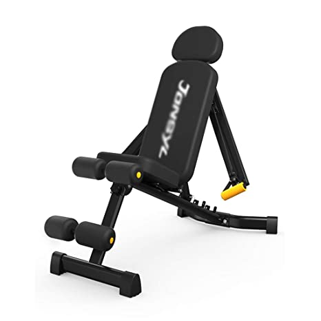 Mesa Plegable de Peso sentados-ups Equipo de Fitness casa Multi-función supina Bordo