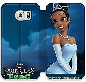 Princesa y el caso del tirón del cuero de la rana F8U81R3 Samsung Galaxy S6 funda de plástico M3G62X2 caja del teléfono de la manera funda