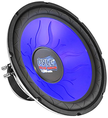 Car Vehicle Subwoofer Audio Speaker – 12 Inch Blue Injection Molded Cone, Blue Chrome-Plated Steel Basket, Dual Voice Coil 4 Ohm Impedance, 1200W Power, for Vehicle Stereo Sound System – Pyle PL1290BL