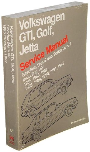Bentley W0133-1618703-BNT Paper Repair Manual VW Jetta/Golf/GTI (A2) - 1985 Vw Golf Gti