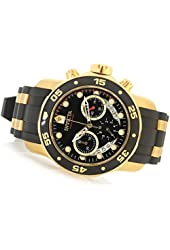 Invicta Men's 21928 Pro Diver Collection Chronograph Black Dial Black Polyurethane Watch