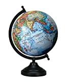 13 Big Decorative Rotating Globe Blue Ocean World Geography Earth Home Decor
