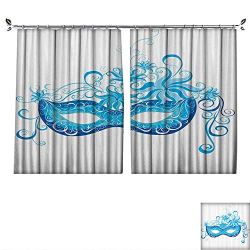 (DESPKON Curtain Outer Curtain Venetian Mask Majestic Impersating Enjoying Halloween Theme Suitable for Living Room. W120 x)