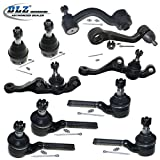 DLZ 10 Pcs Front Suspension Kit-2 Upper 2 Lower Ball Joint 2 Inner 2 Outer Tie Rod End 1 Idler Arm 1 Pitman Arm Compatible with 1973-1976 Dodge Dart Plymouth Duster Plymouth Scamp Plymouth Valiant