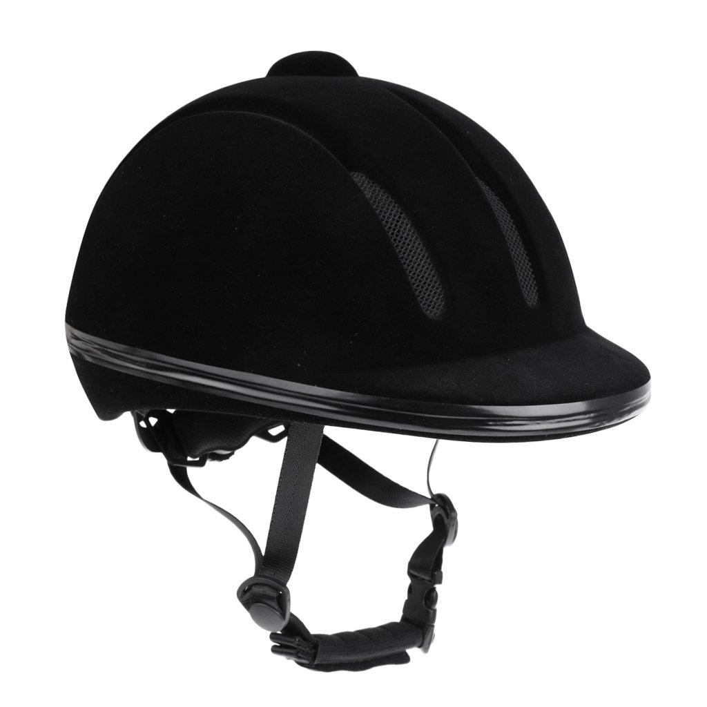 Jili Online Adjustable Lightweight Velvet Flocked Safety Horse Riding Hat Helmet Protective Protection , Black or Red
