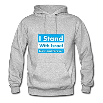 Bradfohod Style Personality Women I Stand With Israel Now And Forever Hoody - I Stand With Israel Now And Forever Printed In X-large