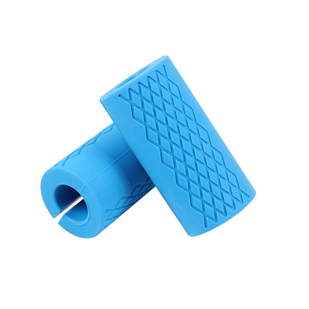 TEKCAM Thick Bar Grips for Barbell Dumbbell Kettlebell - Ideal for Muscle Growth Strength Forearms Biceps Chest by TEKCAM