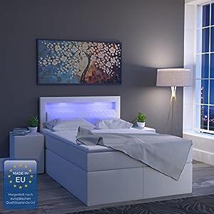 Oskar Design Boxspringbett Led Doppelbett Bett Hotelbett Ehebett