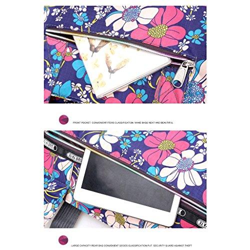 Sacs 7 7 De Plage Sac Shopper Capacité À Grande Imprimer Femmes Fleur Bandoulière Nylon Zipper Junlinto en CxnSZw7aq