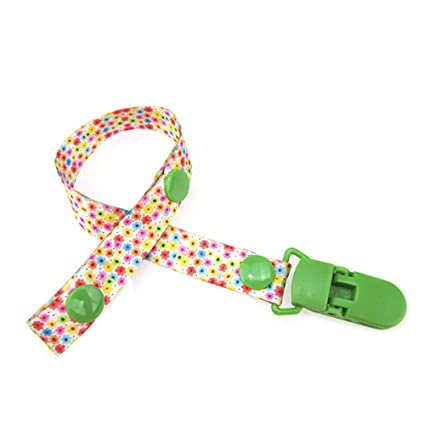 BABY BOY GIRL DUMMY CLIP THEMED DUMMY SOOTHER CLIP STRAP PACIFIER SUMMER FLOWERS
