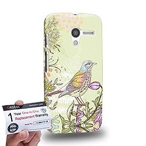 Case88 [Motorola Moto X (1st Gen)] 3D impresa Carcasa/Funda dura para & Tarjeta de garantía - Art Drawing Fanciful Intricacies Birds A