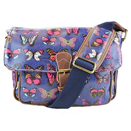 Bag Miss Small Lulu Navy Butterfly Print Oilcloth Satchel qgIgxrnTw