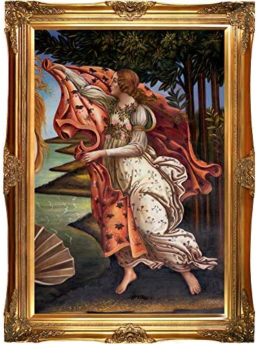 La Pastiche Overstockart Bot2360-Fr-6996G24X36 Botticelli Birth of Venus Right Panel with Victorian Gold Frame, Gold Finish