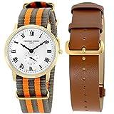 Frederique Constant Slimline Gold Men's Watch FC235M4S5GRYOR + Extra...