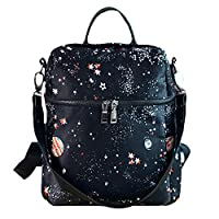 Galaxy Star Printed Oxford Casual Student School Backpack Bag Travel Bag Shoulder Purse from Mily