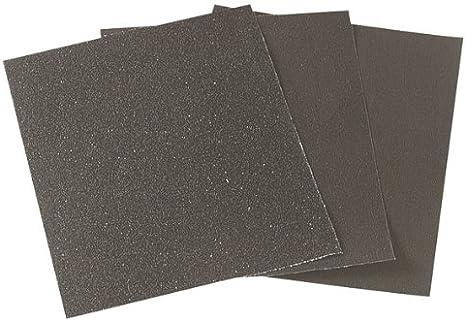 Wolfcraft 2863000 Feuille abrasifs en toile /émeri Grain 100 230 x 280 mm