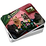 Home of Cairns 4 Dogs Playing Poker Photo Storage Tin