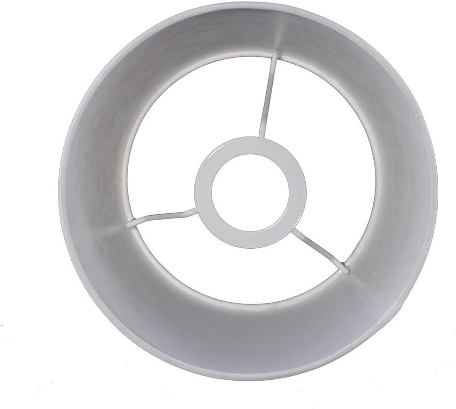 Lampenschirm f/ür Tischleuchte in Rund Brilliant Wei/ß TL 20-15-13