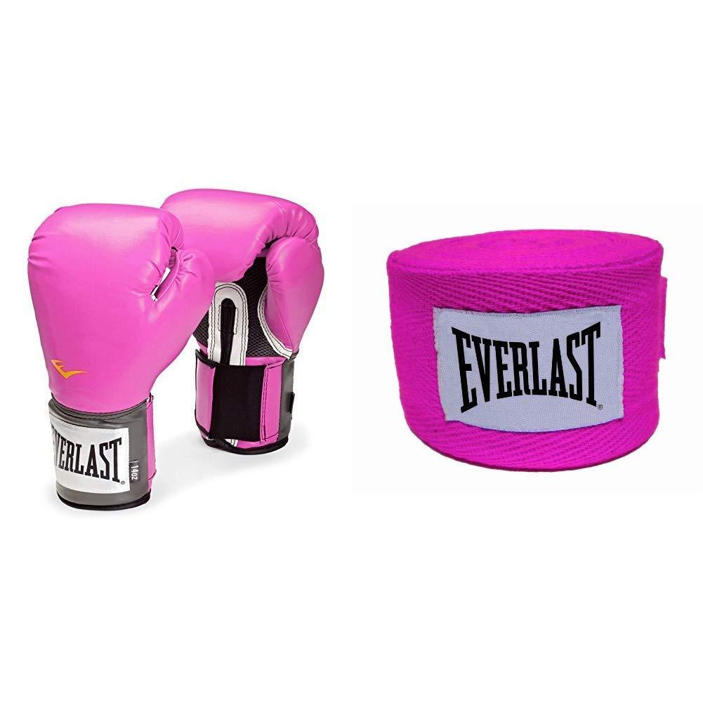 4455PK Guantes de Boxeo para Mujer Rosa Rosa Talla:10 Unzen Color Rosa Venda r/ígida Everlast PU