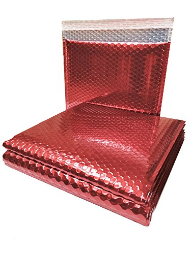 10 Pack Metallic Bubble Mailers 13.75 x 11. Red Padded Envelopes 13 3/4 x 11. Large Glamour Bubble Mailers Peel and Seal. Padded Mailing Envelopes for Shipping, Packing, Packaging. by ABC Pack & Supply
