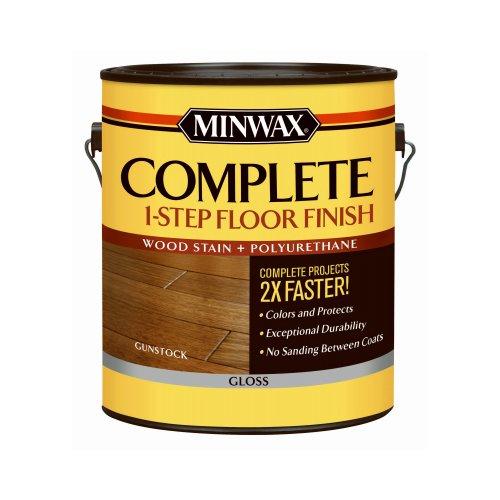 Minwax 672080000 Complete 1 Step Floor Finish, 1 Gallon, Gunstock
