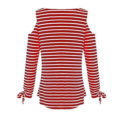 Casual Blouse Longues Tops XL T S Ray V Col Rouge Femme Blouse Jupes IrrGulier Shirt Manches Automne Chemises Wolfleague LGantes Tops Chemisier qAfUIwA