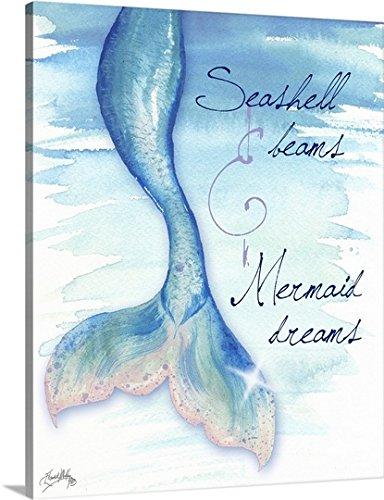 Medley Wall Hanging (Elizabeth Medley Premium Thick-Wrap Canvas Wall Art Print entitled Mermaid Tail I 16