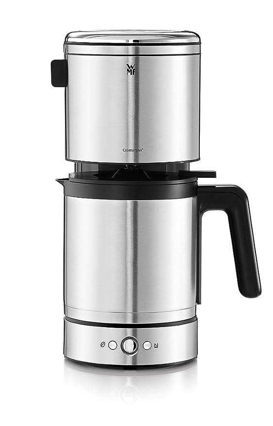 WMF Lono Cafetera de filtro termo, 900 W, 10 Cups, Acero Inoxidable, Cromargan mate, negro