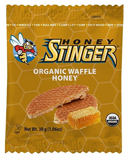 Honey Stinger Organic Waffle, Honey, 1.06 Ounce, 16 Count