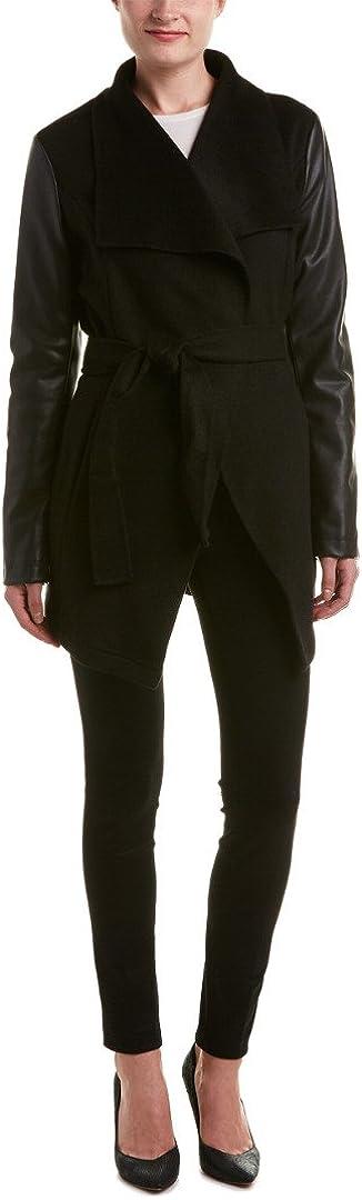 Laundry Asymmetrical Wrap Belt Tie Coat