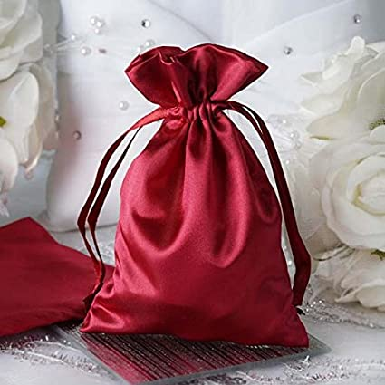 f5b7f62f79d6c Image Unavailable. Image not available for. Color: Efavormart 12PCS  Burgundy Satin Gift Bag Drawstring ...