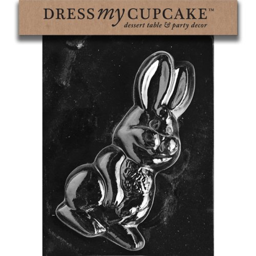 Dress My Cupcake Chocolate Candy Mold, Large Bunny, Easter