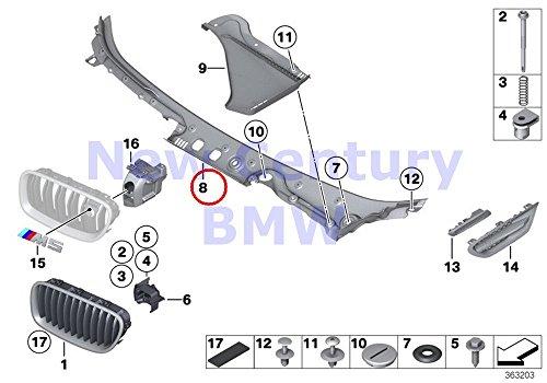 BMW Genuine Exterior Trim / Grill Trim Windshield Cowl Outer Windshield Cover 528i 528iX 535i 535iX 550i 550iX Hybrid 5 M5 528i 528iX 535d 535dX 535i 535iX 550i 550iX Hybrid - Outer Cowl