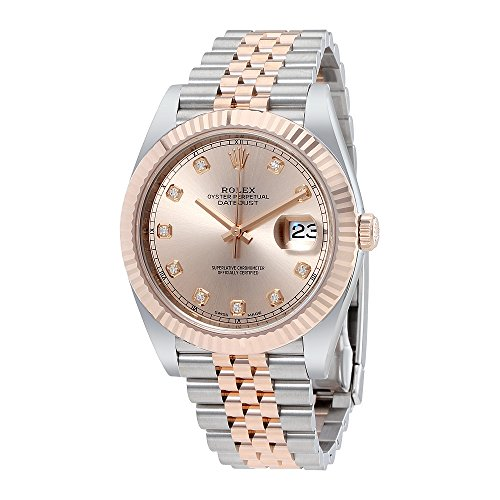 Rolex Datejust 41 Sundust Diamond Dial Steel and 18K Yellow Gold Mens Watch 126333SNDJ