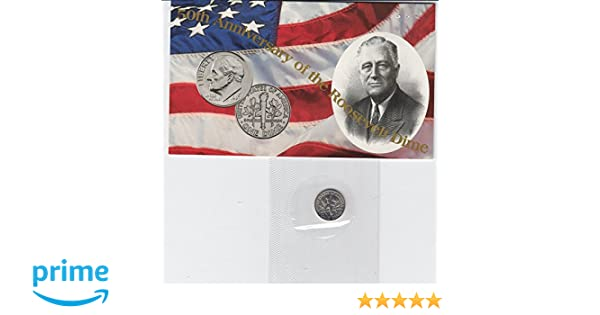 1996 D Roosevelt Dime Set ~ Uncirculated Coins in Mint Cello