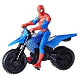 Marvel Spider-Man 6 Inch Figure and Vehicle Spiderman with Supercross Cycle