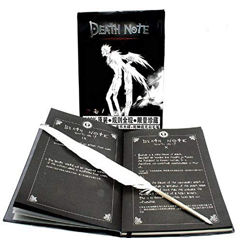 Anime Notebook with Feather Pen from the Death Note Series