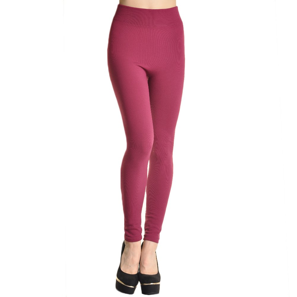 29a0315bdcc5dd Amazon.com: Angelina Womens Winter Warmth Seamless Plush Lined Footless  Leggings: Clothing