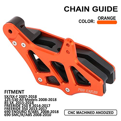 JFG RACING CNC Rear Chain Guide Guard Slider For 125-530 2008-2015 EXC EXC-F SX SX-F XC XC-F XC-FW - 2009 Ktm Exc