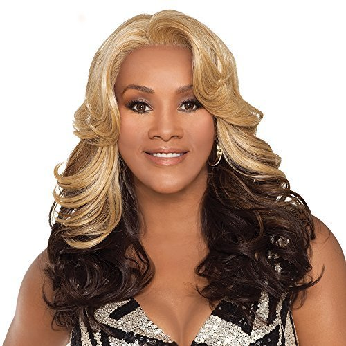 Vivica A Fox Napoli-V Full Cap Wig with Adjustable Strap, GM61327, 12.2 Ounce by Vivica A - Napoli Mall Shopping