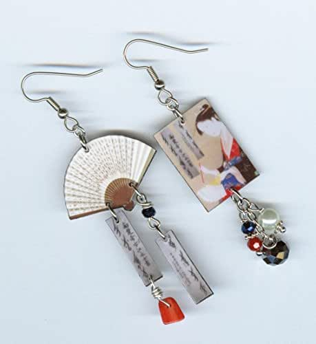 Amazon.com: Secret Fan Nushu Nu Shu Earrings