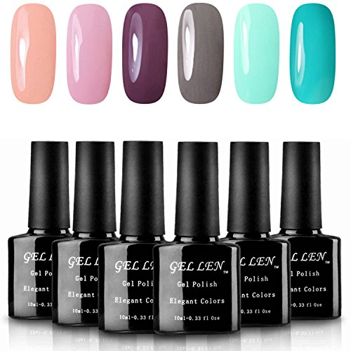 Gellen UV Gel Nail Polish - Pack of 6 Colors, New Trend Colo