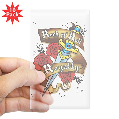 Sticker Clear (Rectangle 10Pk) Rock N Roll Royalty