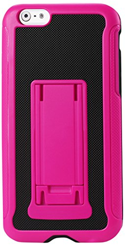 Case Fashion Horizontal (Reiko Horizontal and Vertical Kickstand Case for iPhone 6 4.7INCH, iPhone 6S 4.7inch US Carrier AT&T/T-Mobile/Verizon - Retail Packaging - Black Hot Pink)