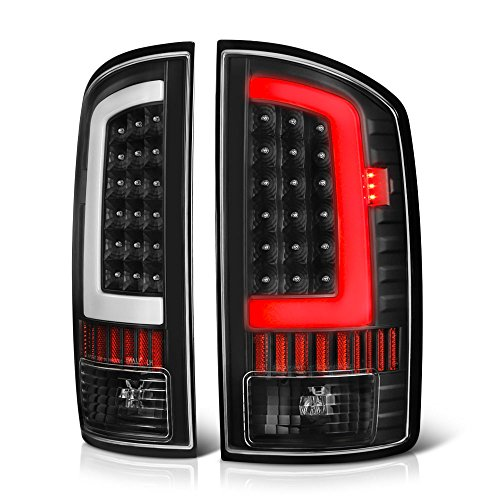 2500 Tail Light Lh Driver - VIPMOTOZ OLED Neon Tube Tail Light Lamp For 2002-2006 Dodge RAM 1500 2500 3500 - Matte Black Housing, Driver & Passenger Side