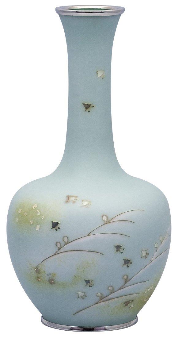 彩光舎 七宝焼き 田村 丈雅 作 80号鶴首千鳥花瓶 010-11 B01B0DRUWG  種類 : 花瓶 高さ24cm