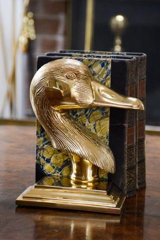 Jefferson Brass Goose Bookend And Door Stop (Lacquered) by Jefferson Brass