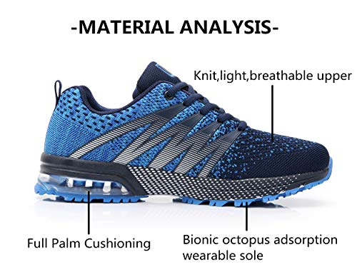 Axcone Homme Femme Air Running Baskets Chaussures Outdoor Running Gym Fitness Sport Sneakers Style Multicolore… 5